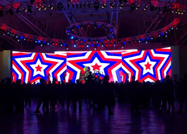 P4 Indoor Stage Rental LED Display Acara LED Video Wall Panel HD 1R1G1B Warna pemasok
