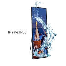 Smart Digital Poster Mirror LED Display, Advertising Led Display Board P2.5 Penuh Warna pemasok