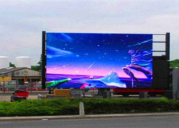 Cina P10 Full Color Outdoor LED Advertising Screens 6000nits Brightness LED Display Board pabrik