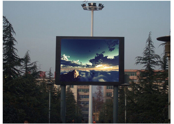 Cina Full Color Waterproof LED Advertising Display P5 Besi Kabinet Material Multi - Penggunaan pabrik