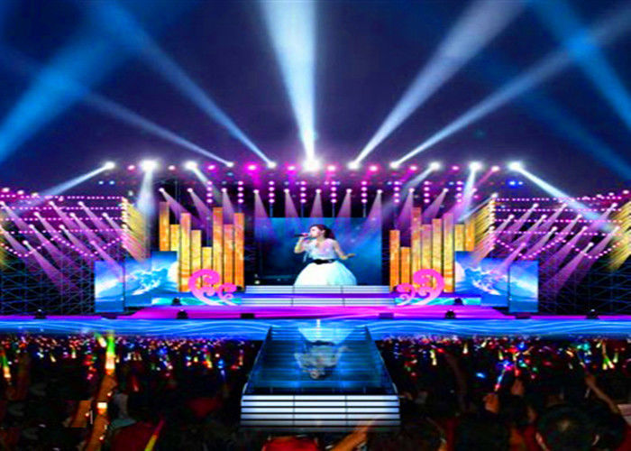 Cina P4 Interior Stage Rental LED Display Concert Background Video Wall Screens pabrik