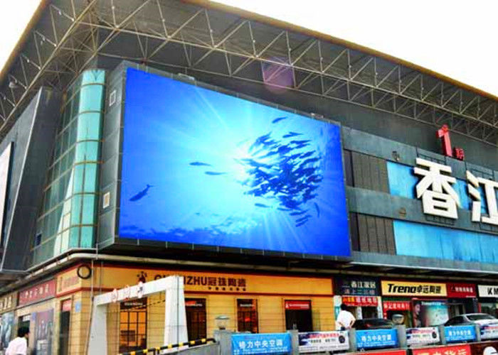 P8 Outdoor LED Advertising Display IP65 Penuh Warna LED Wall Display Screen