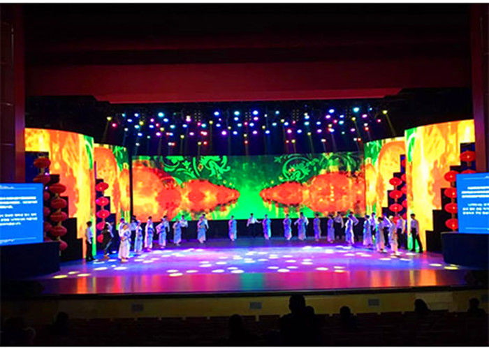 Cina Melengkung LED Stage Rental Layar, P4.81 Indoor LED Display Screen 500 * Ukuran 1000mm pabrik