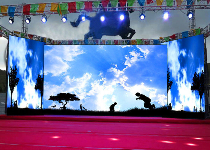Cina ISE Tampilkan P3.91 Indoor Curve DJ Booth Tahap Video Wall Led Display 220 / 110V 1920Hz pabrik
