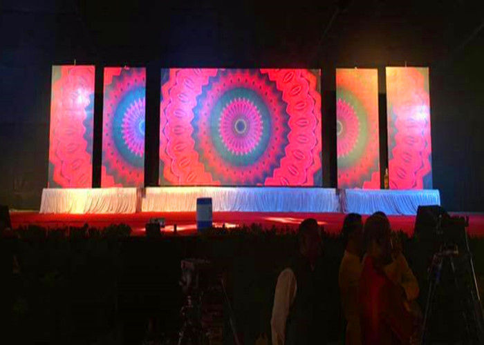 SMD2121 Led Screen Stage Backdrop, Dipimpin Rental Dinding Video P3.91 Untuk Konser