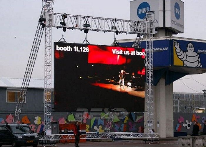 Cina Pixel Pitch 10mm Led Screen Stage Backdrop SMD3535 3 IN 1 1/4 Pindai Tahan Air pabrik